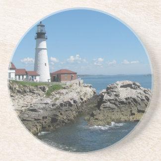 Lighthouse Of Bar Harbor Drink Coaster