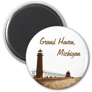lighthouse of grand haven michigan magnet