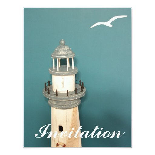 Lighthouse of Greece 4.25x5.5 Paper Invitation Card