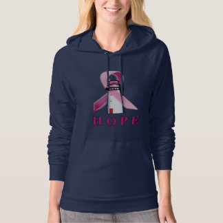 Lighthouse of Hope for a Breast Cancer Cure Hoodie
