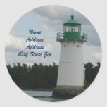 Lighthouse Of Love Adress Label Round Stickers