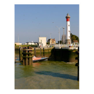 Lighthouse of Ouistreham in France Postcard
