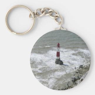 Lighthouse off Beachy Head, East Sussex Keychain
