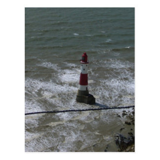 Lighthouse off Beachy Head, East Sussex. Post Card