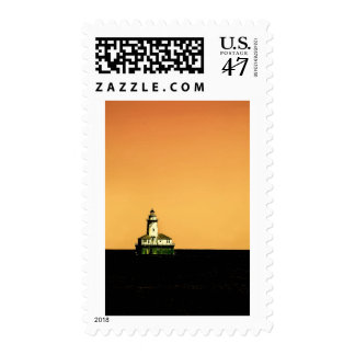 Lighthouse off Navy Pier in Chicago Postage