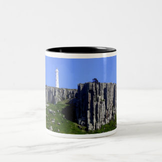 Lighthouse off Tasmania Two-Tone Coffee Mug