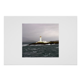 Lighthouse off the Isle of Mull Poster