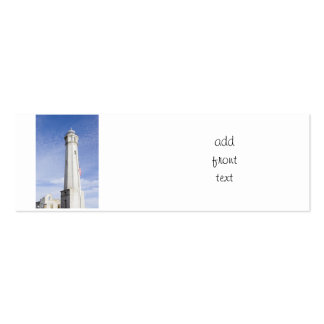 Lighthouse on  Alcatraz Island Double-Sided Mini Business Cards (Pack Of 20)