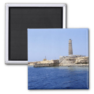 Lighthouse on Brother Islands, Red Sea, Egypt Magnets