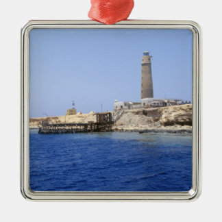 Lighthouse on Brother Islands, Red Sea, Egypt Metal Ornament