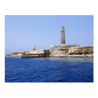Lighthouse on Brother Islands, Red Sea, Egypt Postcard