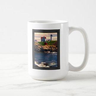 Lighthouse on Coast at Sunset Coffee Mug