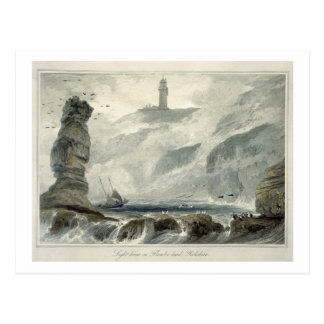 Lighthouse on Flamborough Head, from Volume VI of Postcard