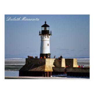 Lighthouse On Ice Postcard