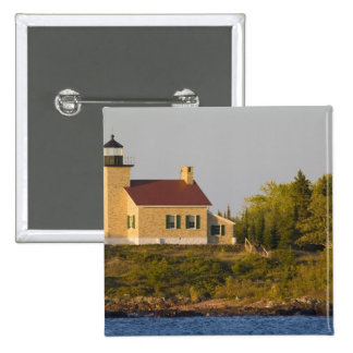 Lighthouse on Lake Superior near Copper Harbor 2 Inch Square Button