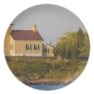 Lighthouse on Lake Superior near Copper Harbor Dinner Plate