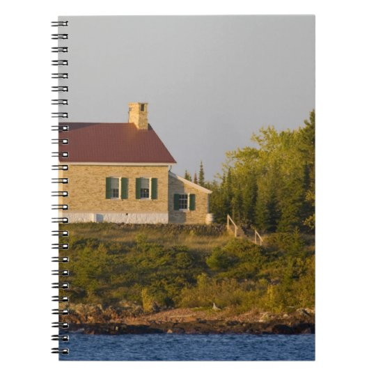 Lighthouse on Lake Superior near Copper Harbor Notebook