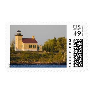 Lighthouse on Lake Superior near Copper Harbor Postage Stamp