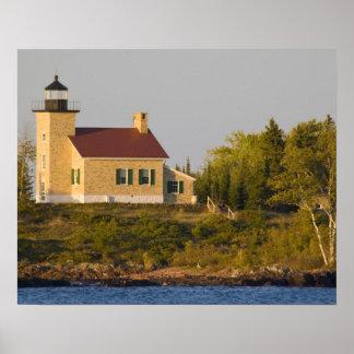 Lighthouse on Lake Superior near Copper Harbor Poster