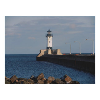 Lighthouse on Lake Superior Poster