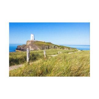 Lighthouse on Llanddwyn Island, Anglesey, Wales Canvas Print