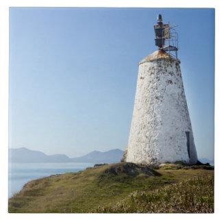 Lighthouse on Llanddwyn Island, Anglesey, Wales Ceramic Tile