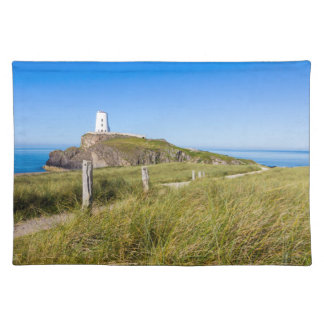 Lighthouse on Llanddwyn Island, Anglesey, Wales Cloth Placemat