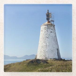 Lighthouse on Llanddwyn Island, Anglesey, Wales Glass Coaster