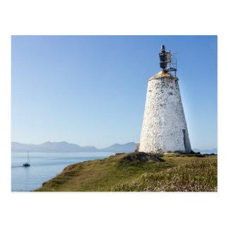 Lighthouse on Llanddwyn Island, Anglesey, Wales Postcard