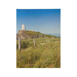 Lighthouse on Llanddwyn Island, Anglesey, Wales Wood Poster