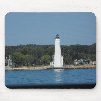 lighthouse on long island sound mouse pad