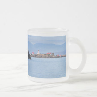 Lighthouse on Merry Island Frosted Glass Coffee Mug