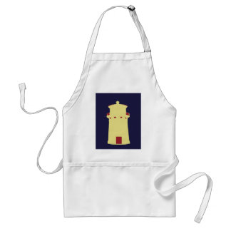 Lighthouse on navy blue. adult apron
