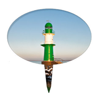 Lighthouse on the Baltic Sea coast Cake Toppers