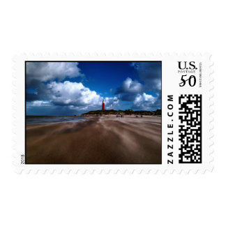 Lighthouse on the beach postage
