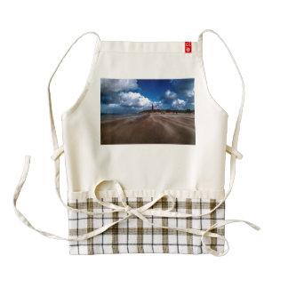 Lighthouse on the beach zazzle HEART apron
