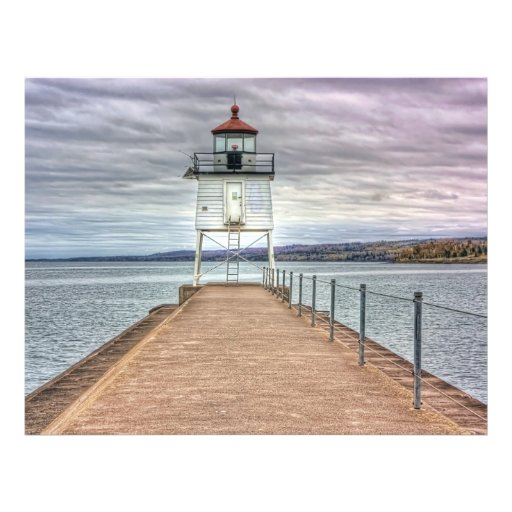 "Lighthouse on the Breakwall 8.5"" X 11"" Flyer"