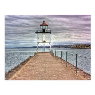 Lighthouse on the Breakwall Postcard