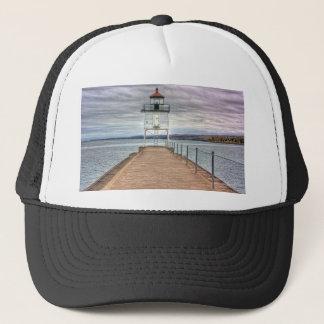 Lighthouse on the Breakwall Trucker Hat