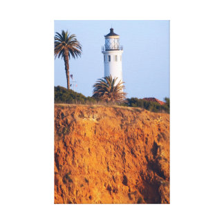 Lighthouse on the cliff canvas print