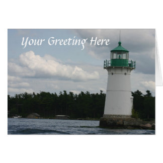 Lighthouse On The Lake Greeting Card