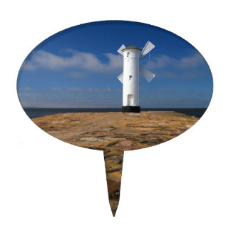 Lighthouse on the Mole in Swinemuende Cake Topper