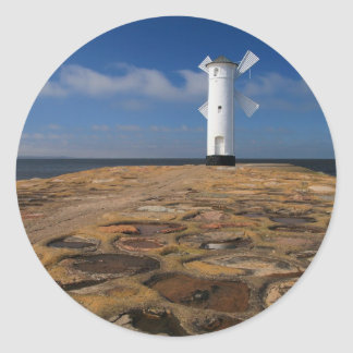 Lighthouse on the Mole in Swinemuende Classic Round Sticker