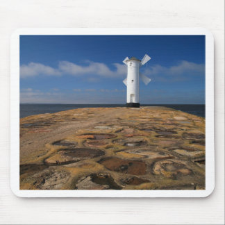 Lighthouse on the Mole in Swinemuende Mouse Pads