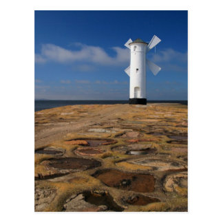 Lighthouse on the Mole in Swinemuende Postcard