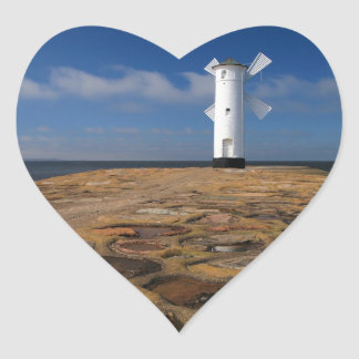 Lighthouse on the Mole in Swinemuende Heart Sticker