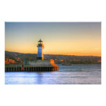 Lighthouse on the North Pier Custom Stationery