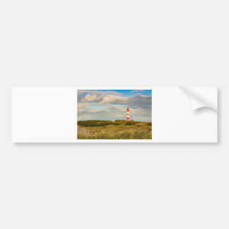 Lighthouse on the North Sea island Amrum Bumper Sticker