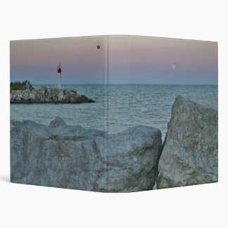 Lighthouse on the Rocky Shore 3 Ring Binder