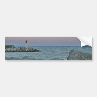 Lighthouse on the Rocky Shore Bumper Sticker